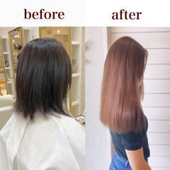 横顔美人 エレガント うる艶カラー 髪質改善トリートメント ヘアスタイルや髪型の写真・画像