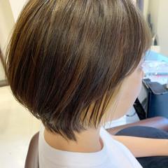 インナーカラー ガーリー ショートボブ ショートヘア ヘアスタイルや髪型の写真・画像