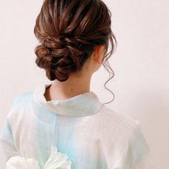 エレガント ヘアアレンジ 着物 お呼ばれ ヘアスタイルや髪型の写真・画像