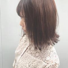 ナチュラルベージュ ピンクベージュ ボブ ミルクティーベージュ ヘアスタイルや髪型の写真・画像