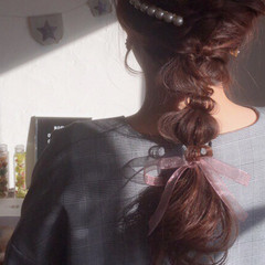 ロング 謝恩会 ハーフアップ ヘアアレンジ ヘアスタイルや髪型の写真・画像