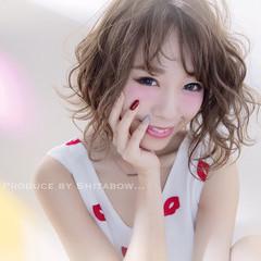 外国人風 ボブ 簡単ヘアアレンジ 大人女子 ヘアスタイルや髪型の写真・画像
