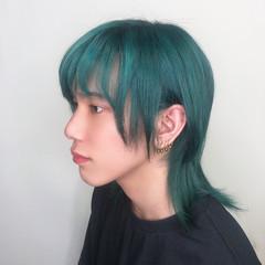 派手髪 メンズカラー ショート フェミニン ヘアスタイルや髪型の写真・画像