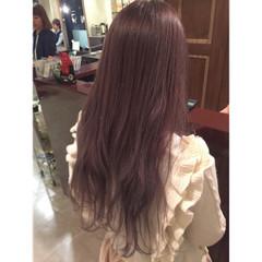 ダブルカラー ピンクアッシュ イルミナカラー ゆるふわ ヘアスタイルや髪型の写真・画像