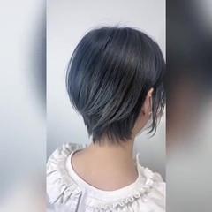 ショートヘア ショート ウルフカット モード ヘアスタイルや髪型の写真・画像