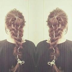 ヘアアレンジ 編み込み 外国人風 ロング ヘアスタイルや髪型の写真・画像