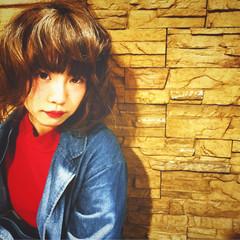 ガーリー ボブ ふわふわ かわいい ヘアスタイルや髪型の写真・画像