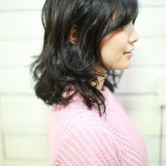 ニュアンス 大人女子 グレージュ セミロング ヘアスタイルや髪型の写真・画像