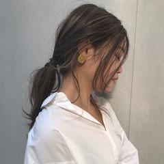 デート オフィス ロング フェミニン ヘアスタイルや髪型の写真・画像
