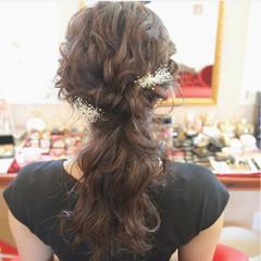 謝恩会 ヘアアレンジ デート ロング ヘアスタイルや髪型の写真・画像
