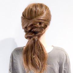 オフィス エレガント ロング アウトドア ヘアスタイルや髪型の写真・画像