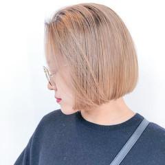 ストリート ミニボブ ボブ ブリーチカラー ヘアスタイルや髪型の写真・画像