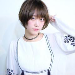 ショート ガーリー 冬 秋 ヘアスタイルや髪型の写真・画像
