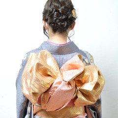 ヘアアレンジ アップスタイル ボブ 着物 ヘアスタイルや髪型の写真・画像