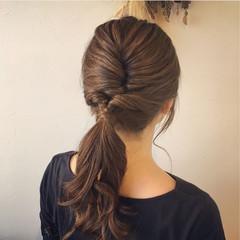 リラックス ロング 女子会 簡単ヘアアレンジ ヘアスタイルや髪型の写真・画像