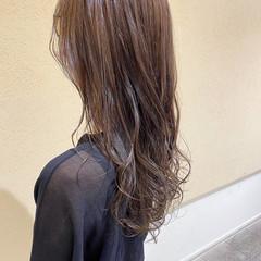 セミロング 大人女子 大人かわいい ナチュラルベージュ ヘアスタイルや髪型の写真・画像