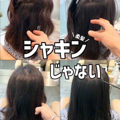 ナチュラル 髪質改善 ブリーチなし ストレート ヘアスタイルや髪型の写真・画像