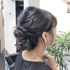 成人式 バレイヤージュ 結婚式 ミディアム ヘアスタイルや髪型の写真・画像