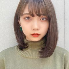 デジタルパーマ 縮毛矯正ストカール ミディアム ストレート ヘアスタイルや髪型の写真・画像