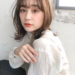 韓国ヘア ウルフカット デジタルパーマ ミディアム ヘアスタイルや髪型の写真・画像