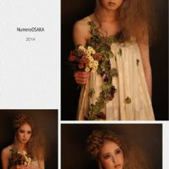 三つ編み ナチュラル ロング ヘアアレンジ ヘアスタイルや髪型の写真・画像