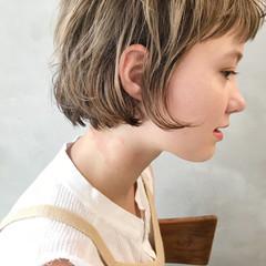 外国人風 ボブ 大人かわいい ブラウン ヘアスタイルや髪型の写真・画像