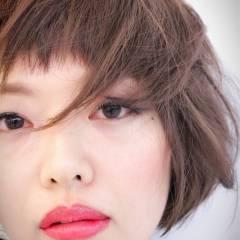 卵型 モテ髪 セクシー 丸顔 ヘアスタイルや髪型の写真・画像