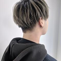 色気 ツーブロック 刈り上げ ストリート ヘアスタイルや髪型の写真・画像