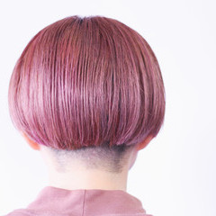 ナチュラル ベリーピンク ラベンダーグレージュ ピンクラベンダー ヘアスタイルや髪型の写真・画像