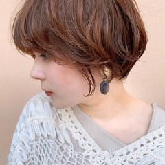 フェミニン ショート デート 銀座美容室 ヘアスタイルや髪型の写真・画像
