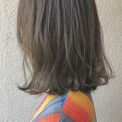 ミディアム 外国人風 透明感 ナチュラル ヘアスタイルや髪型の写真・画像