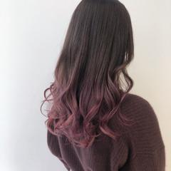 ピンクラベンダー ラベンダーピンク ロング ピンク ヘアスタイルや髪型の写真・画像