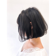 ワンカール 切りっぱなしボブ ボブヘアー ナチュラル ヘアスタイルや髪型の写真・画像