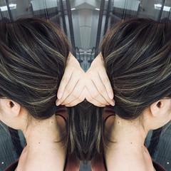ハイライト アッシュ ストリート 涼しげ ヘアスタイルや髪型の写真・画像