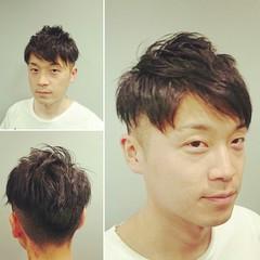 メンズ ショート 黒髪 ストリート ヘアスタイルや髪型の写真・画像