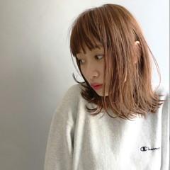 前髪あり ハイライト ゆるふわ ストリート ヘアスタイルや髪型の写真・画像