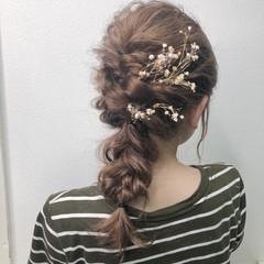 フェミニン セルフアレンジ ミディアム ヘアアレンジ ヘアスタイルや髪型の写真・画像