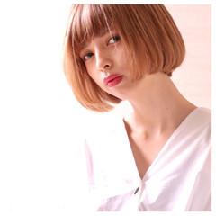 リラックス ナチュラル ボブ 簡単ヘアアレンジ ヘアスタイルや髪型の写真・画像