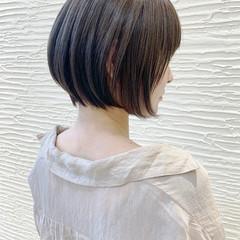 ナチュラル ショートボブ 小顔ショート ショートヘア ヘアスタイルや髪型の写真・画像