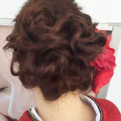ヘアアレンジ 袴 セミロング ヘアスタイルや髪型の写真・画像