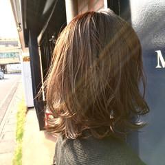 ウルフカット 透明感 イルミナカラー ミディアム ヘアスタイルや髪型の写真・画像