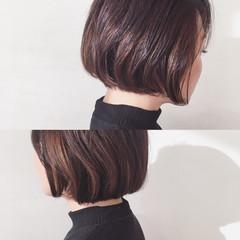 ショートボブ ハイライト 外国人風 インナーカラー ヘアスタイルや髪型の写真・画像