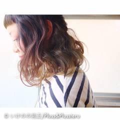 ストレート ハイトーン オン眉 ストリート ヘアスタイルや髪型の写真・画像