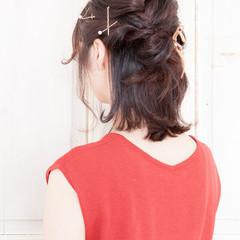 簡単ヘアアレンジ ハーフアップ ヘアアレンジ ゆるふわ ヘアスタイルや髪型の写真・画像