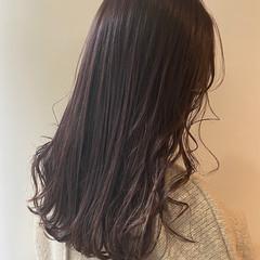 ナチュラル ロング ピンクブラウン ピンクベージュ ヘアスタイルや髪型の写真・画像