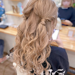 ガーリー ツインテール ハーフアップ ツイン ヘアスタイルや髪型の写真・画像