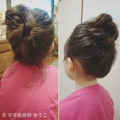 子供 ヘアアレンジ ミディアム 後れ毛 ヘアスタイルや髪型の写真・画像
