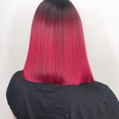 バレイヤージュ ブリーチオンカラー ワンレングス ストリート ヘアスタイルや髪型の写真・画像