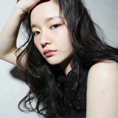 前髪あり 外国人風 ナチュラル ロング ヘアスタイルや髪型の写真・画像