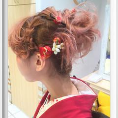 ピンク ハイトーン ボブ ショートボブ ヘアスタイルや髪型の写真・画像